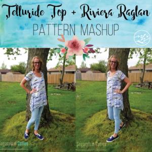 Telluride Top & Riviera Raglan Pattern Mashup