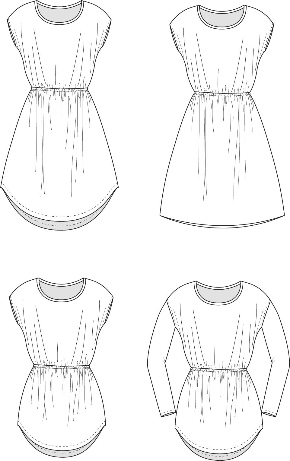 Line Drawing Dress : Deer creek tunic dress new horizons designsnew