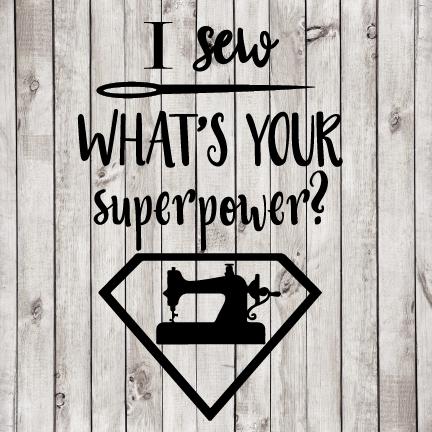 I Sew Superpower cut file