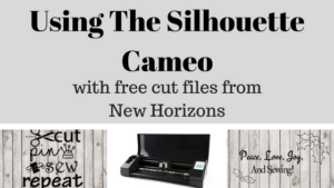 Using New Horizons' free cut file with the Silhouette Cameo