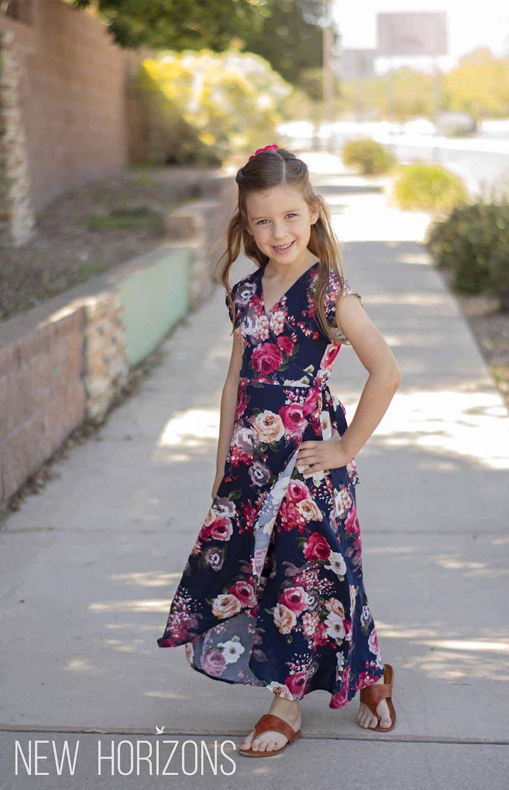 Boardwalk Wrap Dress For Girls New Horizons Designs
