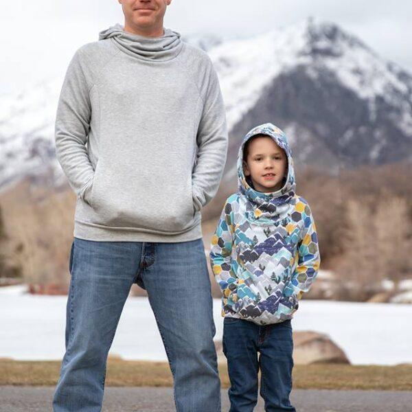 Summit Peak Hoodie Bundle (adult del and kids)
