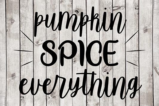 Pumpkin Spice Everything Cut File
