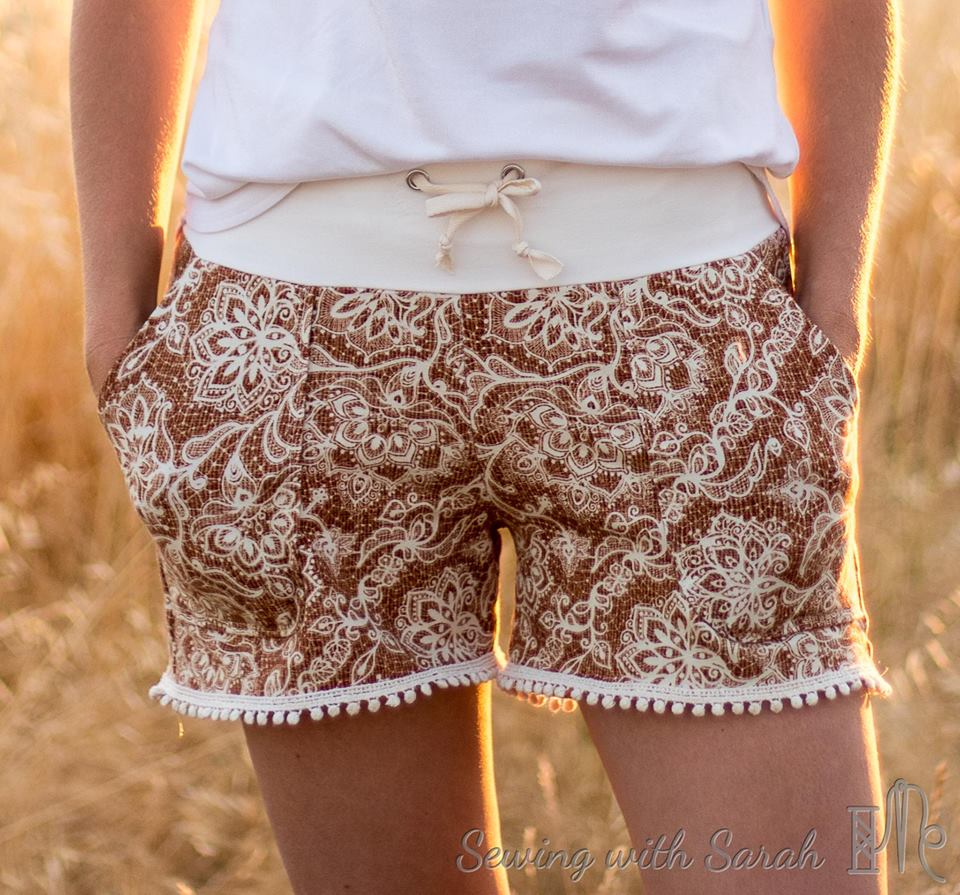 Portlander shorts with drawstring and pocket