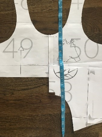 Measure your shoulder to desired crop length adding hem and seam allowances