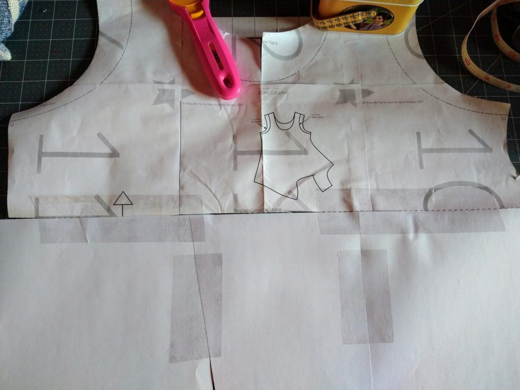 Add paper to your front bodice piece