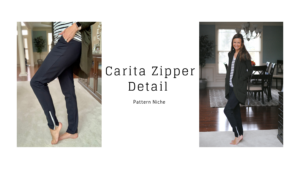 Zipper Detail for the Carita Joggers