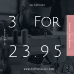3 Patterns for $23.95