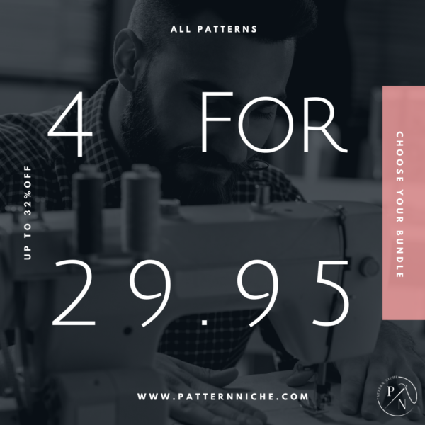 4 Patterns for $29.95